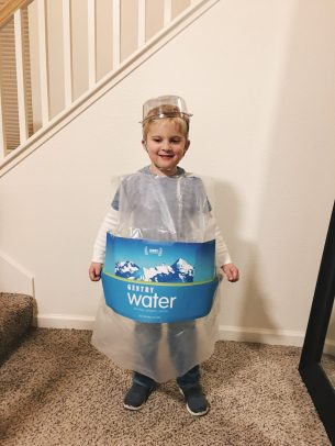Water bottle Halloween DIY costume
