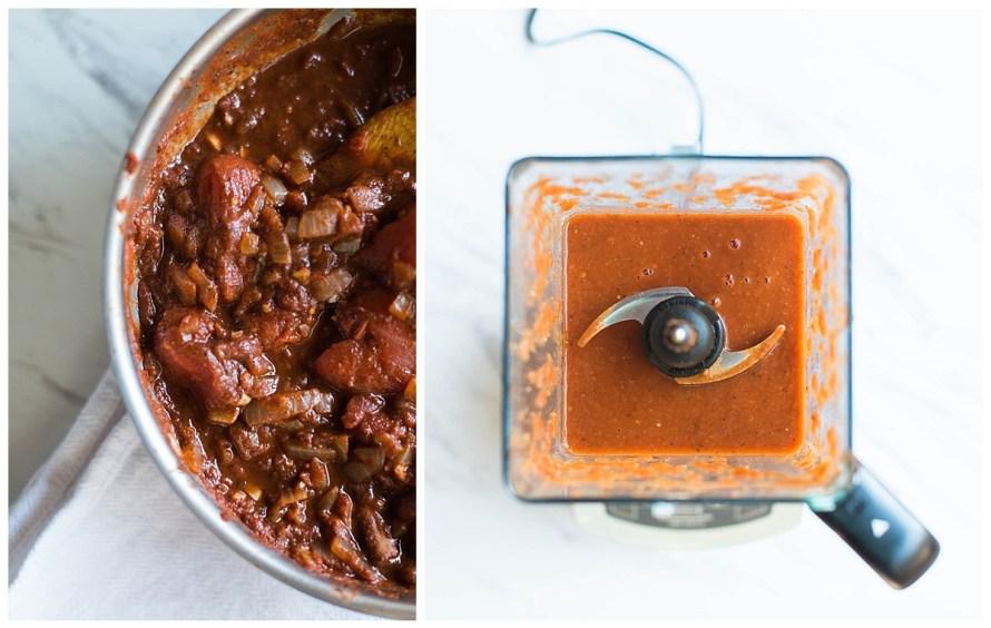 easy blender enchilada sauce