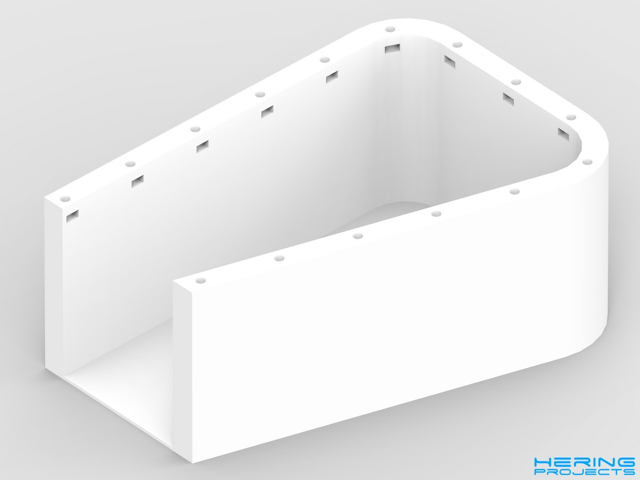 Ultitop Bowdenabdeckung CAD Render