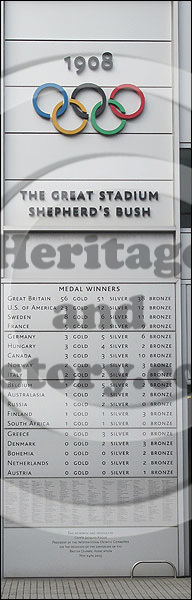 White City 1908 Olympic medal table