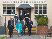 Her Majesty The Queen and His Royal Highness the Duke of Edinburgh on their tour of Bletchley ParkPic - Bletchley Park Trust