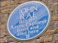 English Heritage blue plaque for Arctic explorer John Rae. Pic English Heritage