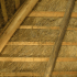 Inside a thatched roof