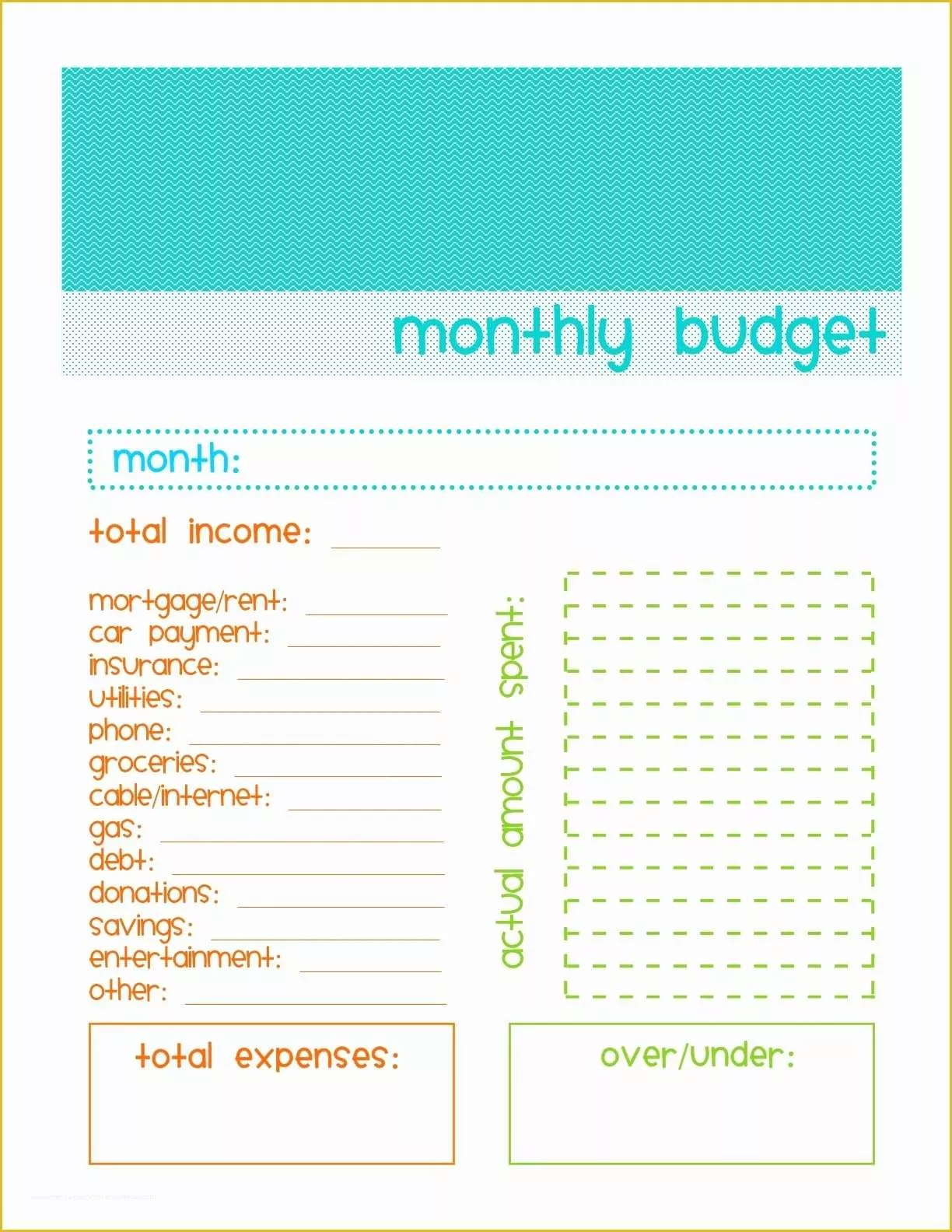 Free Printable Budget Templates Of Simple Bud Template