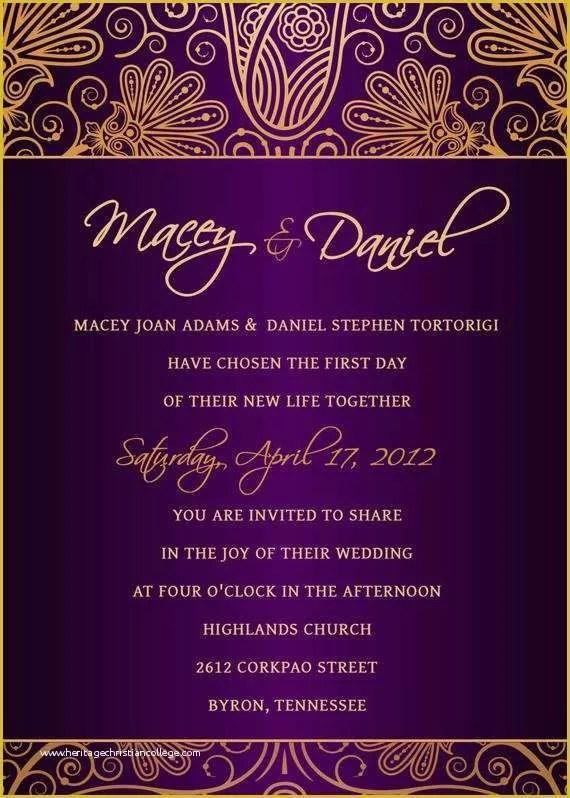 editable indian wedding invitation