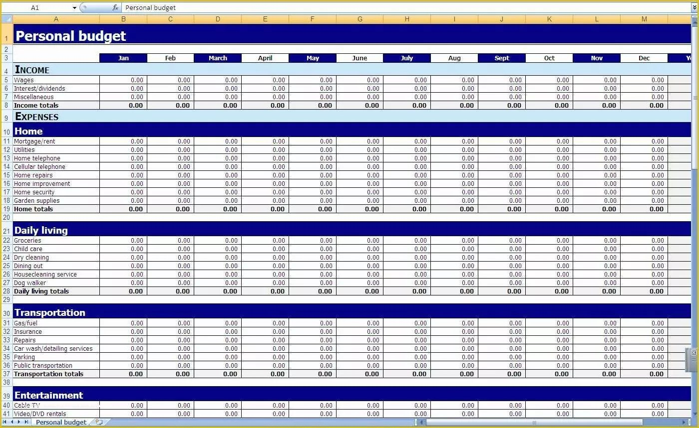 Expenses Template Excel Free Of How To Make A Simple