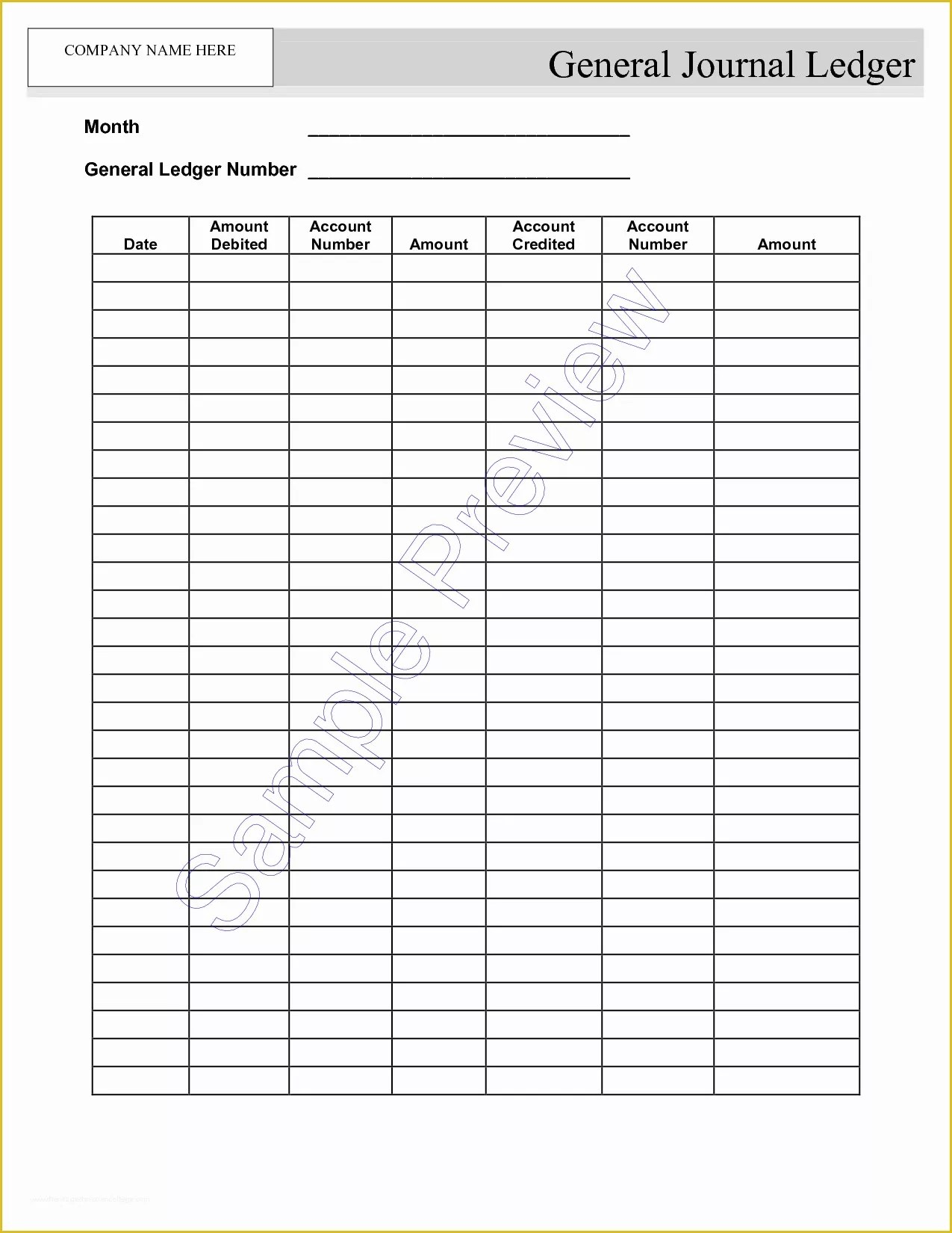 Free Accounting Templates Of Blank Self Employment Ledger