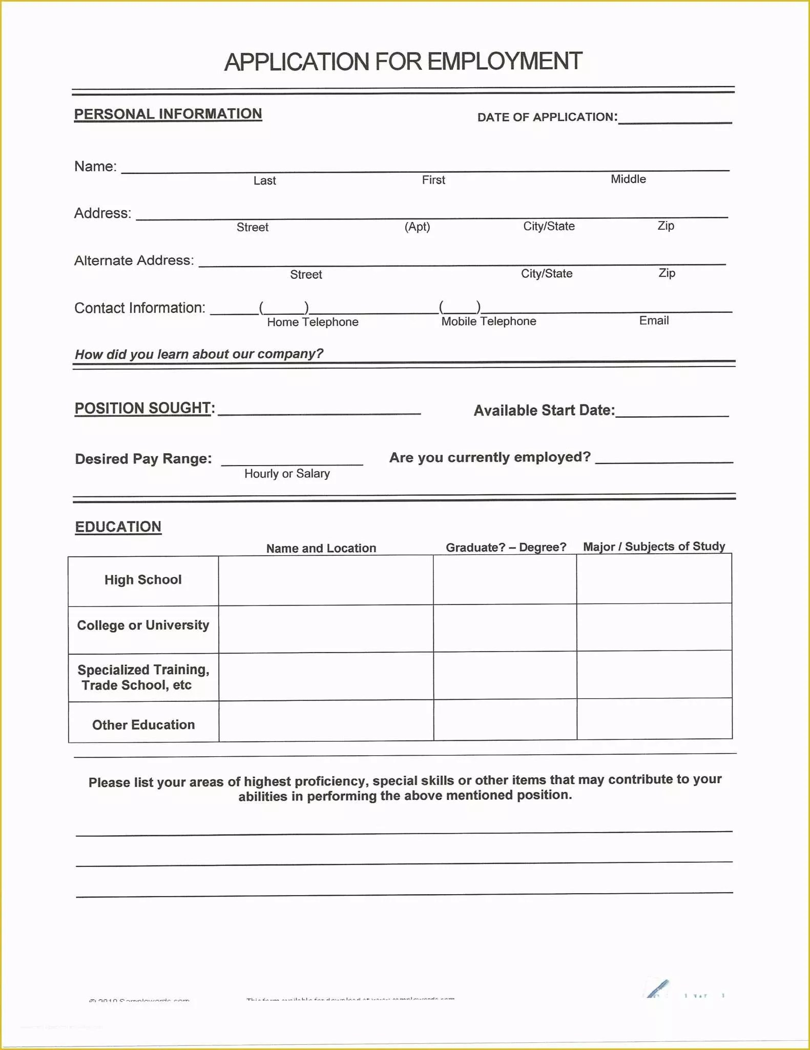 Free Printable Fill In The Blank Resume Templates Of