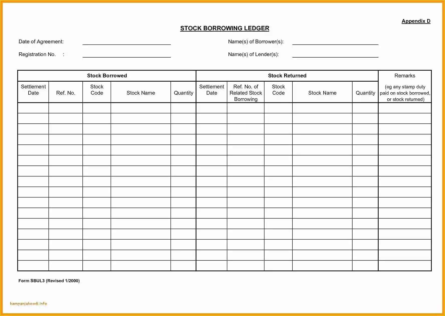Free Small Business Ledger Template Of Accounting