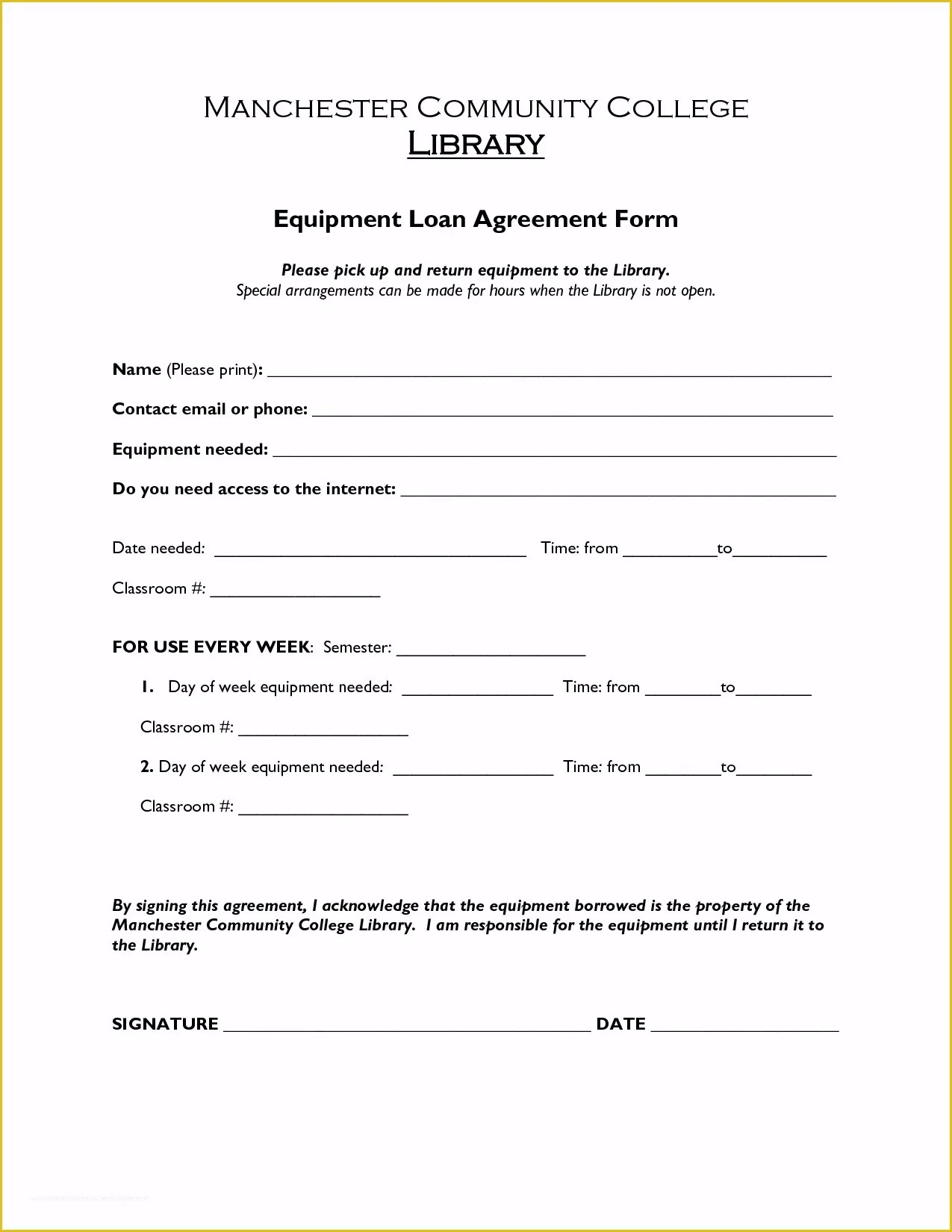 Sale Or Return Agreement Template Free Of Free Printable
