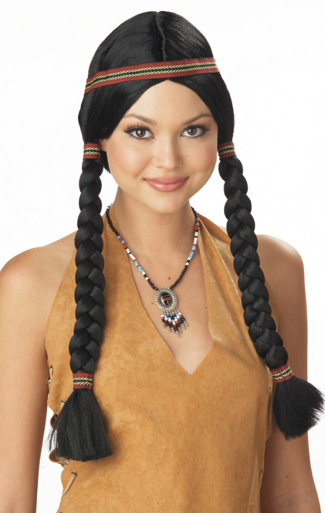 native american indian maiden wig