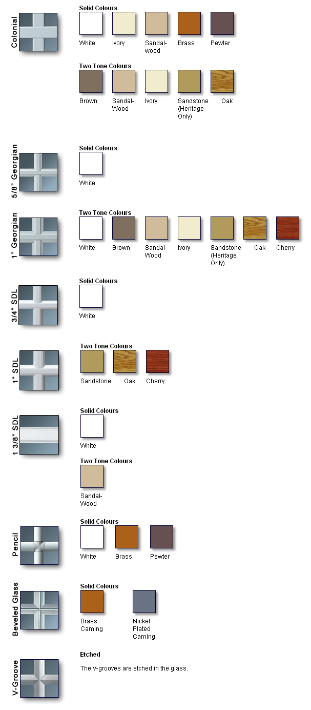 Grilles & Divided Lite Options - Heritage Home Design