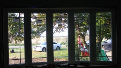 View from inside the new window