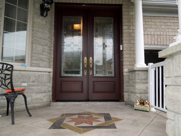 Premium front door installation