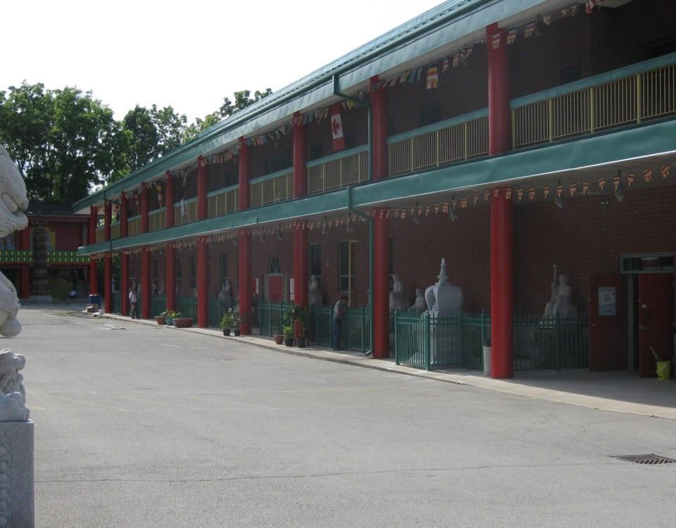Temple railing installation