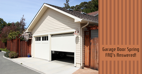 Garage Door Spring FAQ's