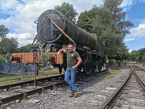 WR 4-6-0 No. 7027 Thornbury Castle, one of the 'forgotten' engines of preservation, at Rowsley with Jonathan Jones-Pratt, who has bought the locomotive with the aim of returning it to the main line. JJP HOLDINGS