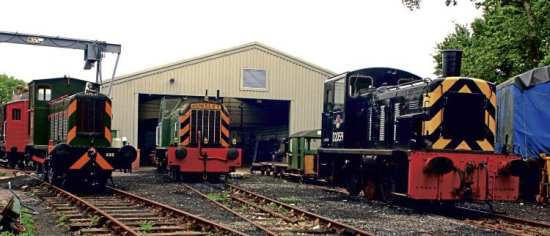 The Isle of Wight Steam Railway's resident diesel fleet pictured in 2006: Left to right are Mavis, D2554 and Class 03 D2059 Edward, which ended its BR service in 1988 and was bought as a back-up engine. PHIL MARSH