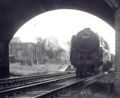 Train heading North, Donington 1962