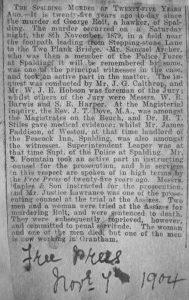 AOS P 1932  a spalding murder newspaper story 1904.