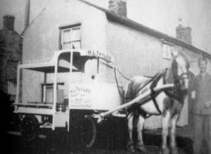 AOS P 1844 mr arthur pickles who for many  years was milk roundsman for mr taylor market deeping 1962