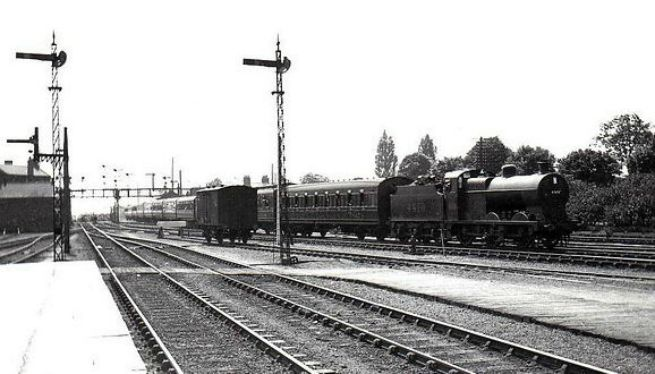 Special for Skegness coming into Spalding 1933