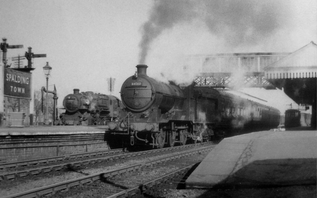 Trains at the platforms, Spalding Railway Station 1950's