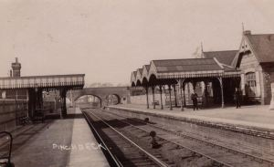 AOS P 2879 Pinchbeck Railway Station. Real Photo 1905