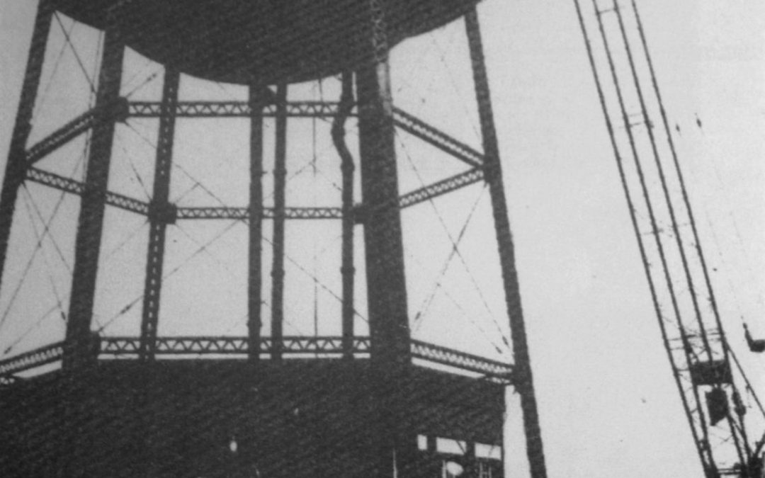 Demolition of the old Water Tower at Weston 1974