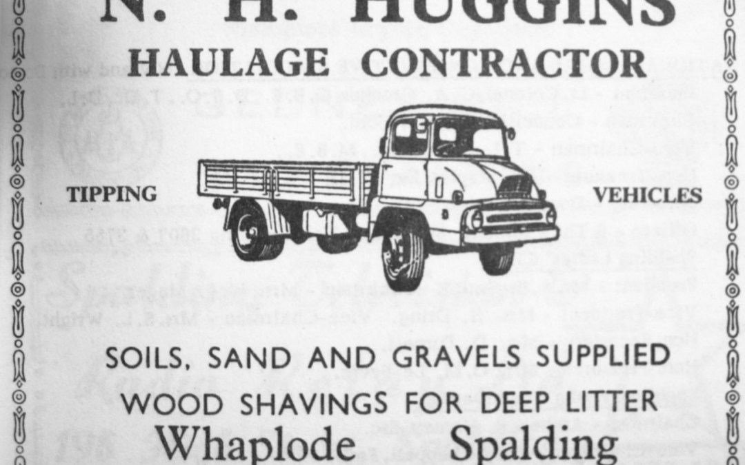 Advert for N.H Huggins, Haulage Contractor of Whaplode