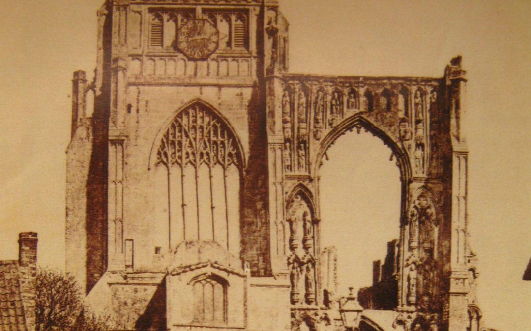 Croyland ( Crowland ) Abbey  1850-1860