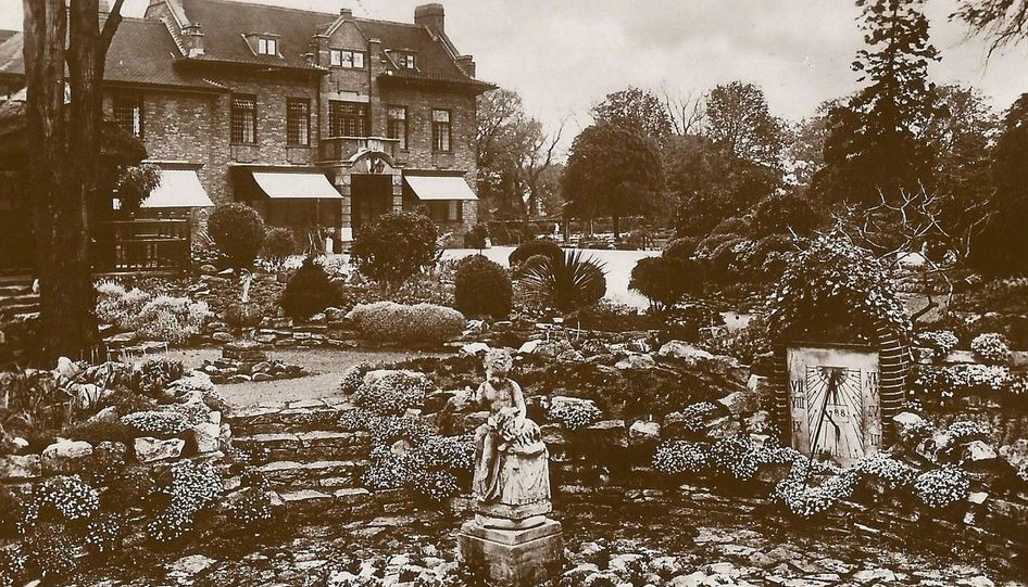 The Garden of Stukeley Hall Holbeach 1932