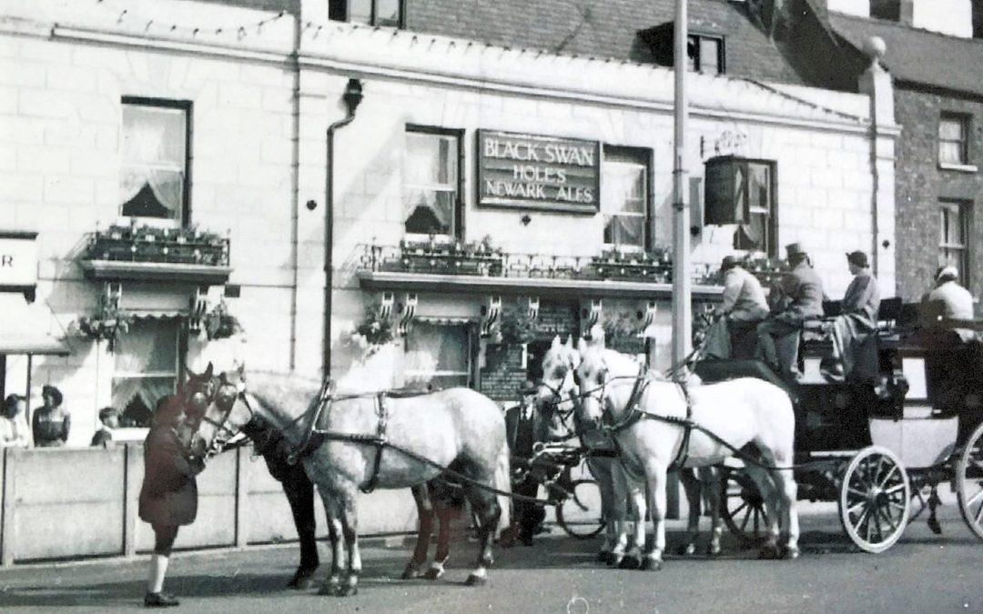 Stagecoach outside Black Swan
