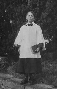 AOS P 3674 CHOIR BOY FROM CROWLAND ABBEY CHOIR, DATED OCT 30TH 1920.  CHOIR BOY IS GIVEN AS 'PERCY STANLEY HALL', AND HE JOINED THE CROWLAND ABBEY CHOIR IN APRIL 1919.