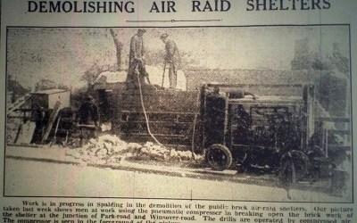 Demolishing Air Raid Shelter