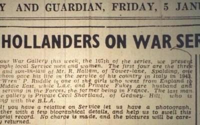 South Hollanders on War Service