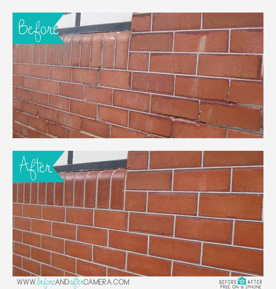 Tuck pointing Bricks