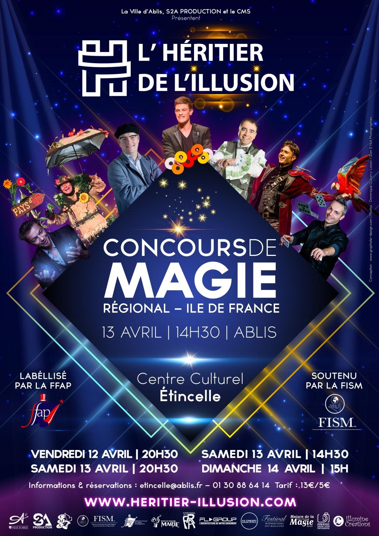 Affiche concours régional de l'héritier de l'illusion 2019