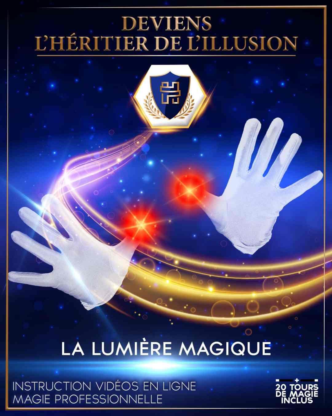 Coffret de magie enfant - La lumière magique | Boîte de magie enfant « Deviens l'Héritier de l'Illusion » N°3 - S2A Production