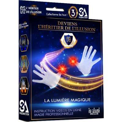 Coffret de magie enfant - La lumière magique | Boîte de magie enfant «Deviens l'Héritier de l'Illusion» N°3 - S2A Production