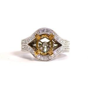 18k White Gold and Diamond Semi Mounting