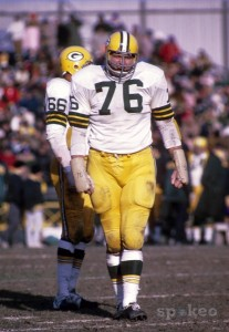Green Bay Packers defensive tackle Mike McCoy (76) against the Minnesota Vikings at Metropolitan Stadium.[Photo: US Presswire, via Spokeo]
