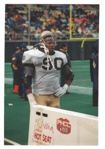 Notre Dame defensive tackle, Brian Hamilton