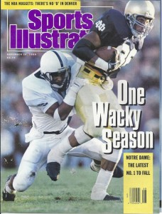 """Derek Brown, on the cover of Sports Illustrated. """"One Wacky Season."""""""