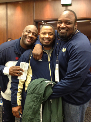 Former teammates Irv Smith, Lee Becton and Oscar McBride