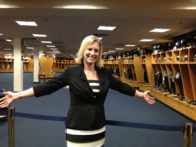 The Notre Dame locker room!