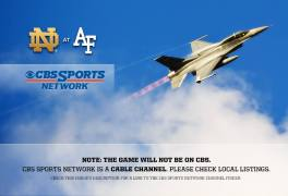 PSAs: ND/Air Force NOT on CBS, Check Out iTunes Season Pass
