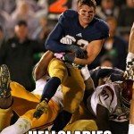 Notre Dame is also undefeated when Cam loses his helmet AND we have fun with the resulting meme in the Roundup.
