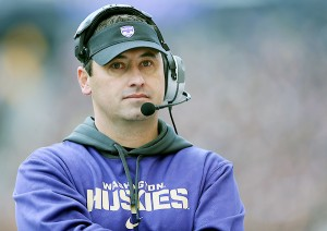 In five years at Washington, Steve Sarkisian went 34-29, and led the team to four straight bowls. (Tom Hauck/AP)