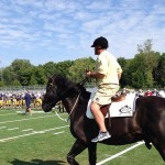 Brian Kelly on a horse